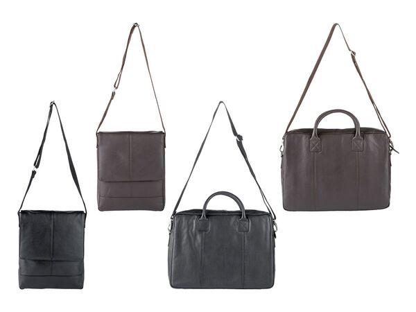 LIVERGY® Herren Leder Laptoptasche / Messengerbag, mit verstellbarem Schultergurt