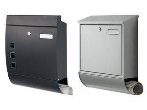 PARKSIDE® Briefkasten, einsetzbare Seitenabdeckungen, aus Edelstahl, witterungsbeständig