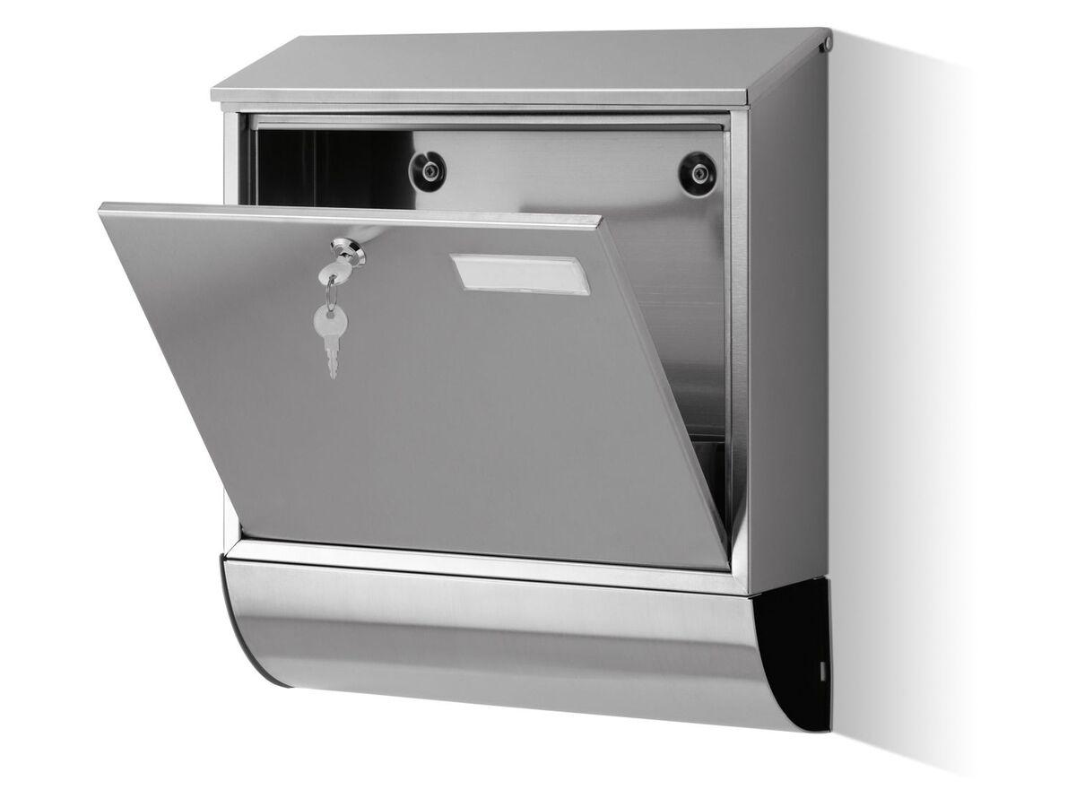 Bild 4 von PARKSIDE® Briefkasten, einsetzbare Seitenabdeckungen, aus Edelstahl, witterungsbeständig