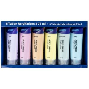Acrylfarbe pastell - 6 Tuben à 75ml