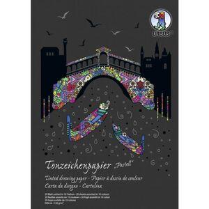 Tonzeichenpapier DIN A4 - 20 Blatt in 10 Pastell-Farben