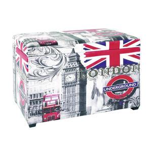 XXXLutz Sitzbox massiv multicolor  , Underground , Holz , Vintage , 65x42x40 cm , Echtholz , als Aufbewahrungsbox verwendbar, Stauraum , 001931018001