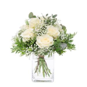 Weißer Rosengruß -   Fleurop Blumenversand