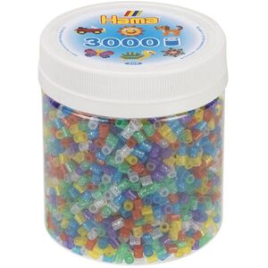 Hama Bügelperlen - 3000 Perlen - Glitzer-Mix
