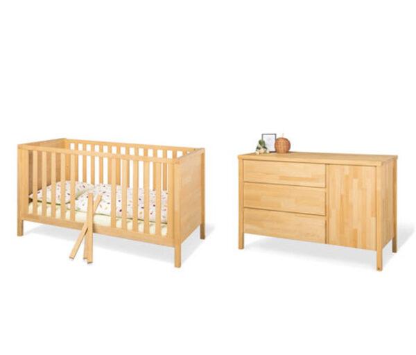 Pinolino-Babyzimmer »Enno« aus Massivholz, 2-teilig