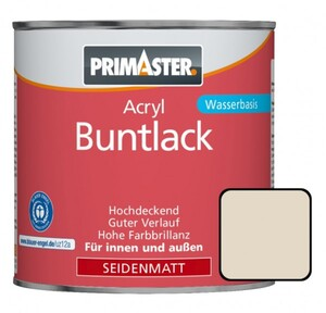 Primaster Acryl Buntlack RAL 1013 375 ml, perlweiß, seidenmatt