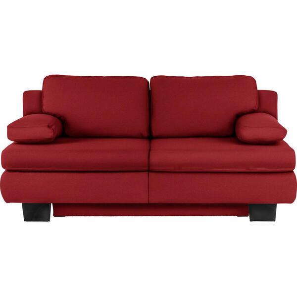Novel Schlafsofa rot  , Macy , Textil , 203x94x100 cm , Fußauswahl, Stoffauswahl, Schlafen auf Sitzhöhe, Rücken echt , 002469005203