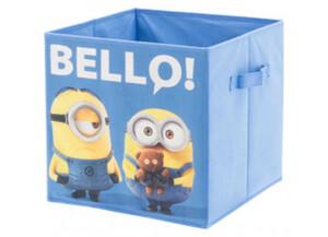 Stoffbox Minions blau