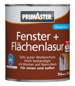 Primaster Fenster- und Flächenlasur SF1306 750 ml, weiß