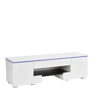 Carryhome Tv-element weiß , Highgloss , 1 Schubladen , 140x44x40 cm , Hochglanz,Nachbildung , 002239021401