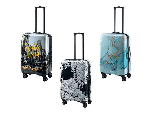 TOPMOVE® Koffer, 60 l Fassungsvermögen, mit 4 Rollen, ABS-Polycarbonat-Gehäuse