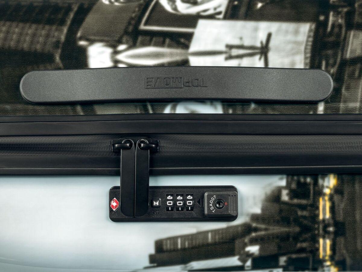 Bild 8 von TOPMOVE® Koffer, 60 l Fassungsvermögen, mit 4 Rollen, ABS-Polycarbonat-Gehäuse