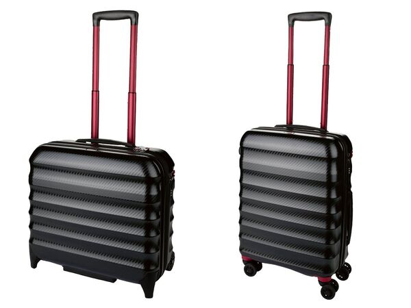 TOPMOVE® Polycarbonat Business-Trolley/Bordcase, mit USB-A-Port, Regenschutzhülle