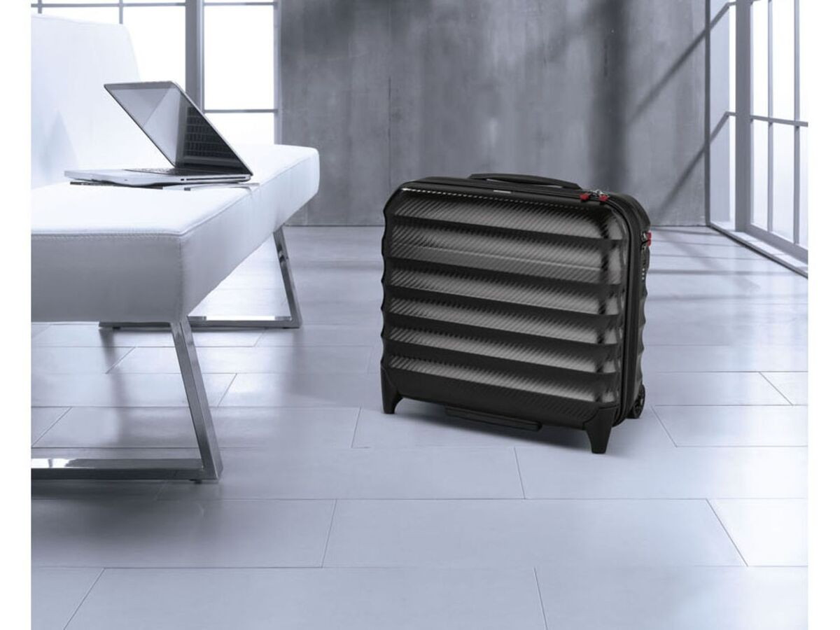 Bild 3 von TOPMOVE® Polycarbonat Business-Trolley/Bordcase, mit USB-A-Port, Regenschutzhülle