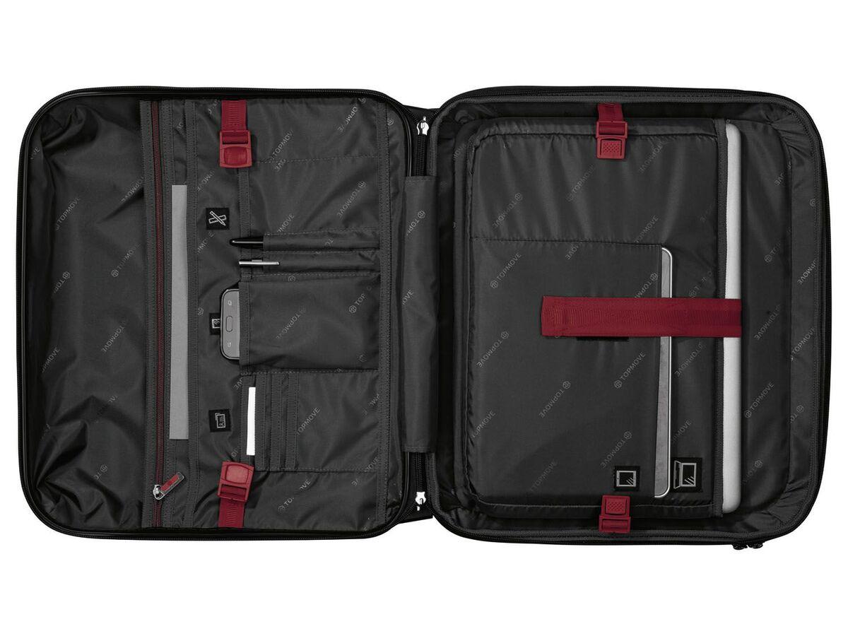 Bild 4 von TOPMOVE® Polycarbonat Business-Trolley/Bordcase, mit USB-A-Port, Regenschutzhülle