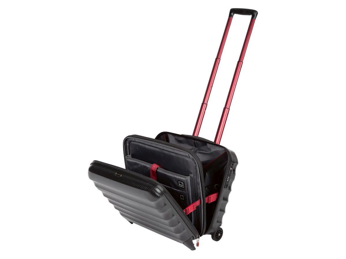 Bild 5 von TOPMOVE® Polycarbonat Business-Trolley/Bordcase, mit USB-A-Port, Regenschutzhülle