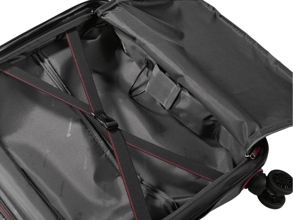 Bild 13 von TOPMOVE® Polycarbonat Business-Trolley/Bordcase, mit USB-A-Port, Regenschutzhülle