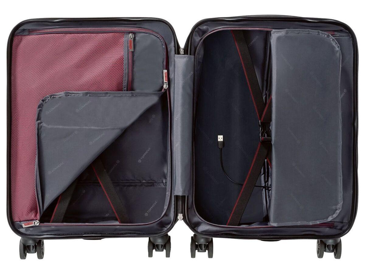 Bild 18 von TOPMOVE® Polycarbonat Business-Trolley/Bordcase, mit USB-A-Port, Regenschutzhülle
