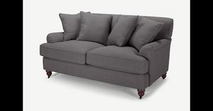Orson 2-Sitzer Sofa mit Kissen, Graphitgrau - MADE.com