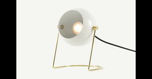Brunswick Nachttischlampe, Schwedengrau und Messing - MADE.com