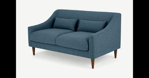 Herton 2-Sitzer Sofa, Orleansblau - MADE.com