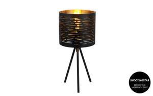Eglo - Tischleuchte Tunno in schwarz/gold, 17 cm