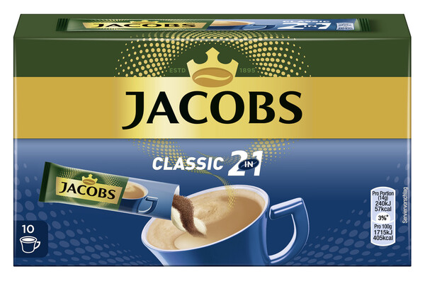 Jacobs Classic 2in1 Sticks 10x 14 g