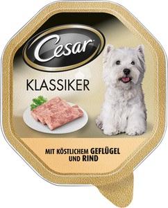 Cesar Klassiker mit Geflügel und Rind Hundefutter nass 150 g