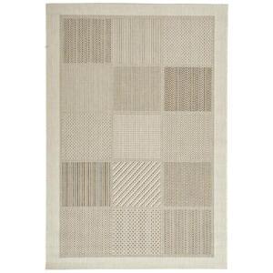 Novel Flachwebeteppich 80/150 cm weiß , Jumanji , Textil , Patchwork , 80x150 cm , für Fußbodenheizung geeignet, in verschiedenen Größen erhältlich, schmutzabweisend, für Hausstauballergiker g
