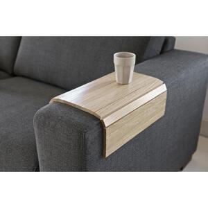 Carryhome Sofatablett eiche massiv 45/1/36 cm eichefarben , Sofatablett Xl , Holz , 45x1x36 cm , lackiert,Echtholz , flexibel, für Armlehnen , 001883002104