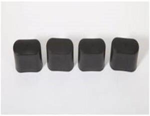 TrendLine Ersatz-Fußkappen Savoy schwarz, 4er Set