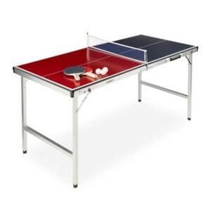 Klappbare Tischtennisplatte mit Zubehör rot-kombi