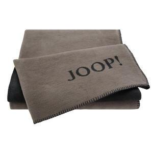 Joop! Wohndecke 150/200 cm anthrazit, taupe , Joop! Uni- Doubleface , Textil , 150x200 cm , Kettelrand, Double face , 004219001711