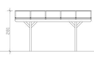 SKAN HOLZ Carport Westerwald 362 x 541 cm, eiche hell