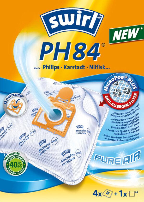 Swirl Staubsaugerbeutel PH84 MicroPor® PLUS PureAir 4 Stück