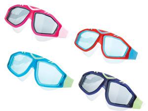 CRIVIT® Wassersportbrille, mit UV-Schutz, Total-View-Panoramasichtfenster, aus Silikon