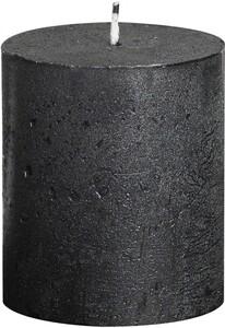 "Bolsius Rustik Stumpenkerze Metallic ""anthrazit, Höhe: 8 cm, Ø 6,8 cm"""