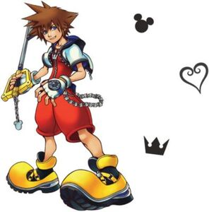 Wandsticker Disney Kingdom Hearts Sora