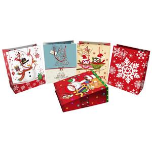 Geschenktasche medium mit Weihnachtsdekor