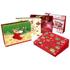 Geschenktasche Querformat, mit Weihnachtsdekor