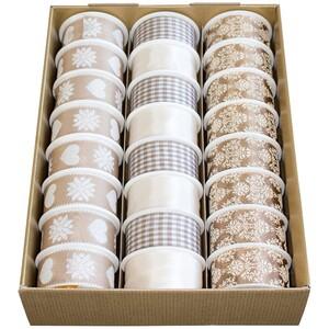 Geschenkband Premium beige taupe 2 m x 40 mm