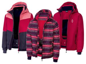 CRIVIT® Kinder Skijacke Mädchen, reflektierende Details