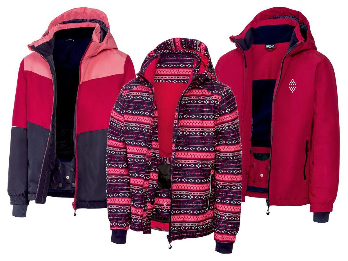 Bild 1 von CRIVIT® Kinder Skijacke Mädchen, reflektierende Details
