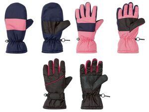 CRIVIT® Skihandschuhe Mädchen, verstärkte Handflächen