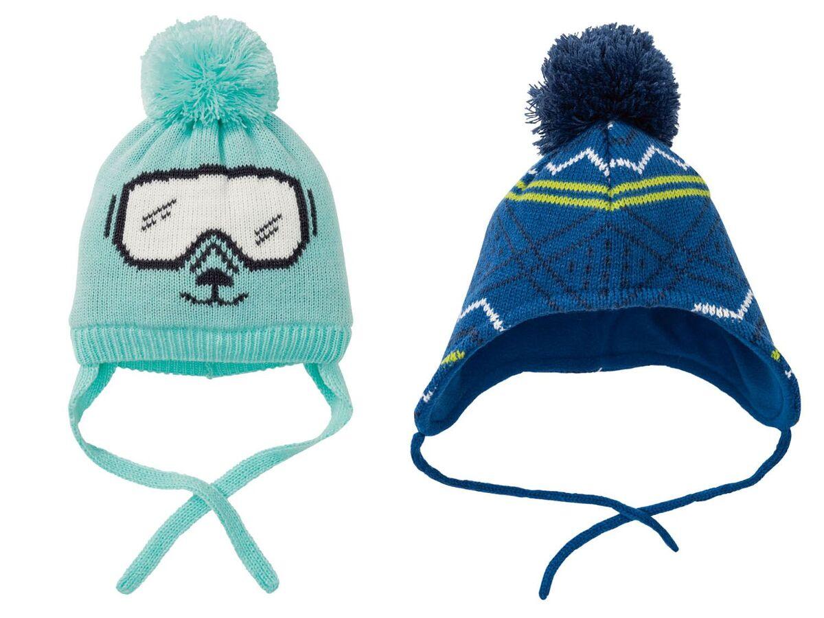 Bild 1 von LUPILU® Baby Mütze Jungen, mit Fleecefutter, Bindebänder