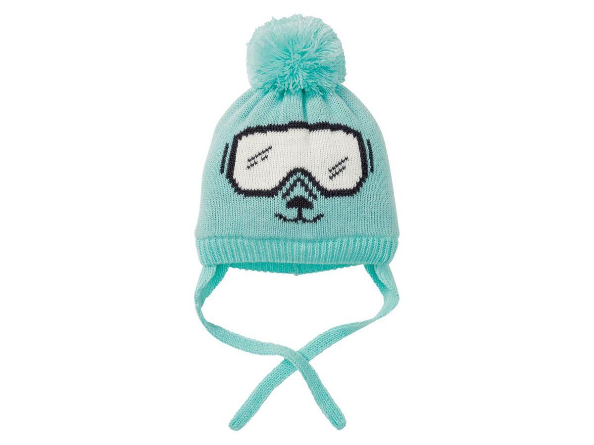 Bild 3 von LUPILU® Baby Mütze Jungen, mit Fleecefutter, Bindebänder