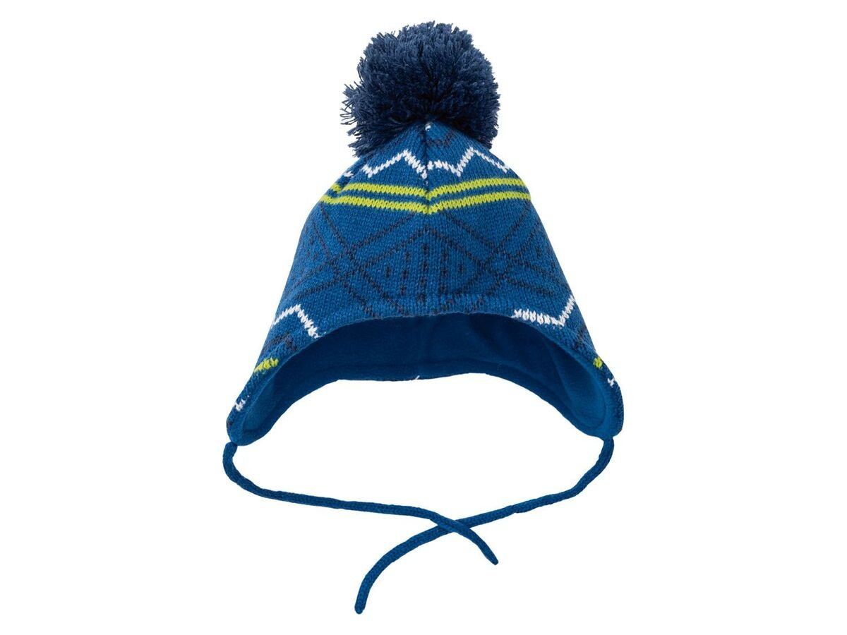 Bild 4 von LUPILU® Baby Mütze Jungen, mit Fleecefutter, Bindebänder
