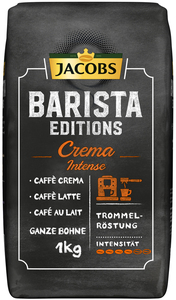 Jacobs Barista Editions Kaffee Crema Intense ganze Bohne 1KG