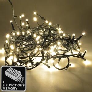 LED Lichterkette 12-18m/120-180LED warmweiß 8Funktionen innen/außen Weihnachten