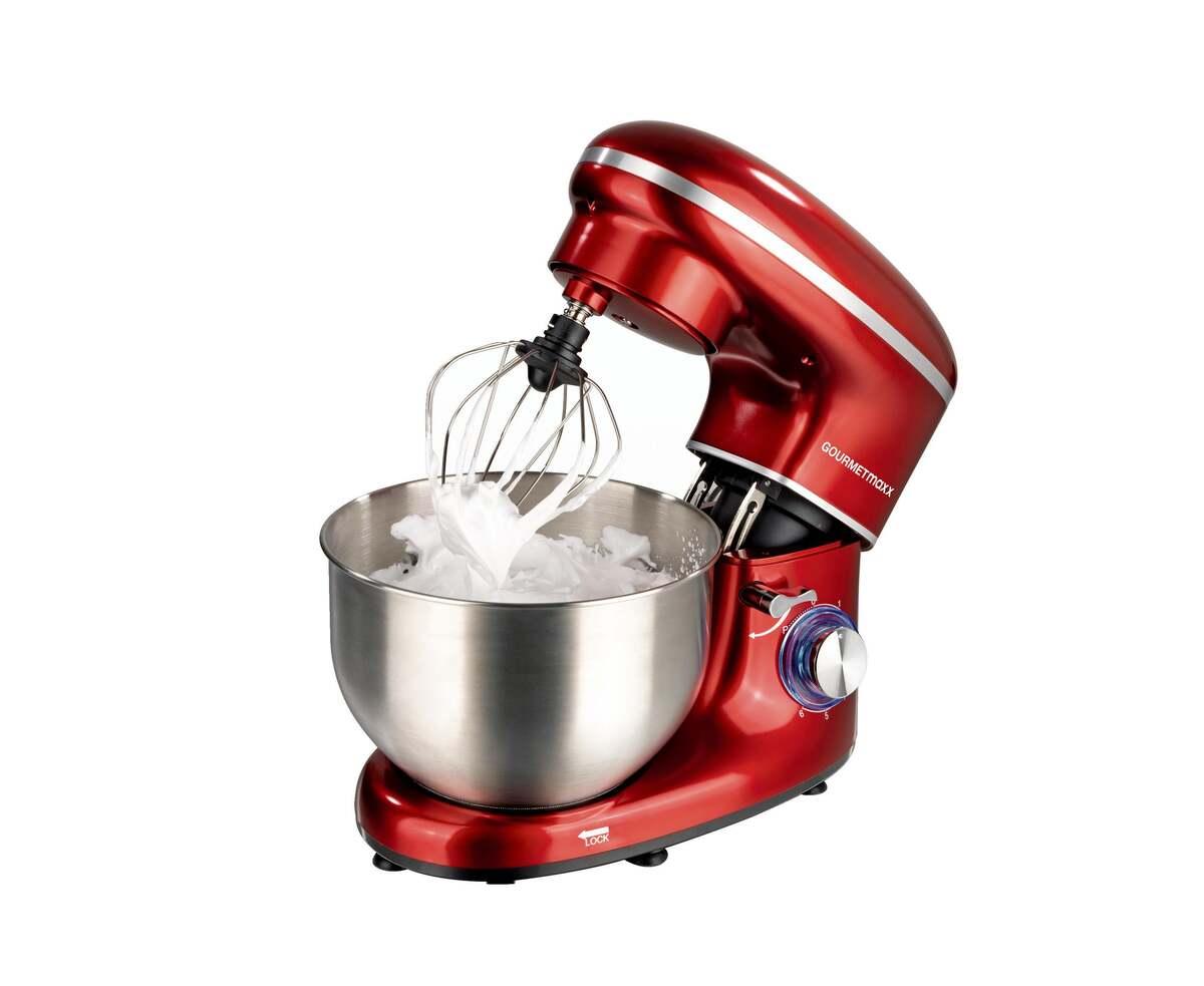 Bild 1 von GOURMETmaxx Küchenmaschine 1500 W rot